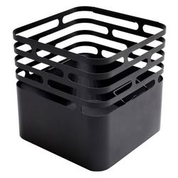 höfats Cube Feuerkorb Edelstahl Schwarz