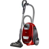 AEG Bodenstaubsauger VX8-4-CR-A, 750 Watt, mit Beutel, Ideal für Allergiker und Haustierbesitzer rot