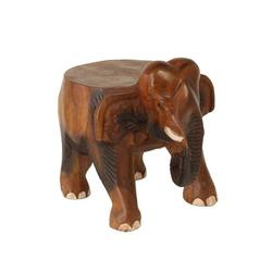 Oriental Galerie Blumenhocker Hocker Elefant Klein 25cm (1 St), Handarbeit