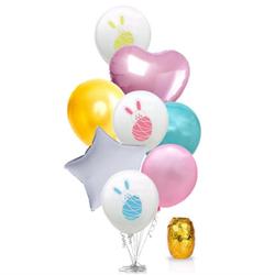 Hasen Folien Luftballon Set 8 Stk. Ostern Kinder Geburtstag Deko Osterdeko