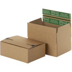 Flixbox Return `Premium`, 230 x 160 x 80 mm, 2. Klebestreifen, A5+