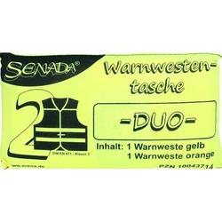 SENADA Warnweste gelb und orange Duo Tasche 1 St
