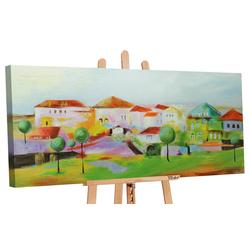 YS-Art Gemälde Das Städchen 066