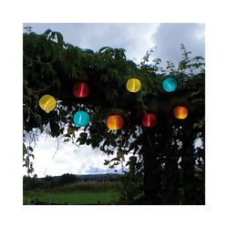STAR TRADING LED-Lichterkette LED Solar Lichterkette Lampion kaltweiße LED 10 bunte Lampions L: 2,70m Terrasse, 10-flammig