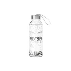 La Vida Trinkflasche Auswahl La Vida Trinkflasche 400ml Wasserflasche Glasflasche Motiv: Abenteuer Flasche