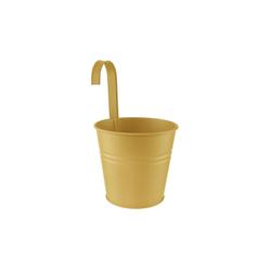 BUTLERS Blumentopf ZINC Hängetopf Höhe 15cm gelb