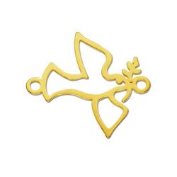 Adelia´s Kettenanhänger Anhänger Friedenstaube 925 Silber vergoldet silber, Friedenstaube silber
