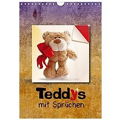 Teddys mit Sprüchen (Wandkalender 2021 DIN A4 hoch)