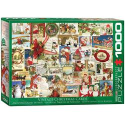 empireposter Puzzle Klassische Weihnachtskarten Art Deco - 1000 Teile Puzzle im Format 68x48 cm, Puzzleteile