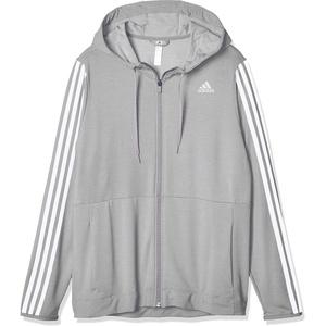 adidas Damen 3-Streifen Training Kapuzenjacke, Medium Grey Heather, M
