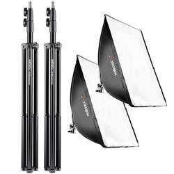 Walimex Pro 2er Set Daylight 250 + Softbox + Stativ