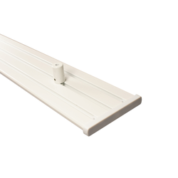 Gardinenschiene Alu 3 und 4-läufig weiß mit Deckenträger (Länge 540 cm (3 x 180 cm))