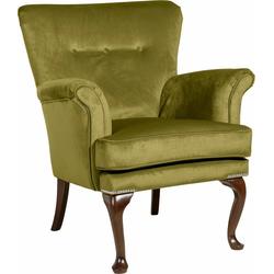 Max Winzer® Sessel Barbie, im Barockstil, mit Ziernagelband grün