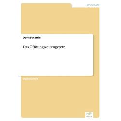 Das Öffnungszeitengesetz als Buch von Doris Schättle