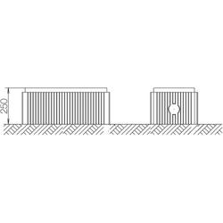 ABN Braun Bodenaufbausockel Gr.0 FB2 H=250mm SX014