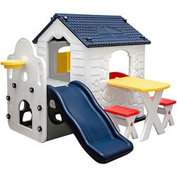 Kinder Spielhaus ab 1 - Garten Kinderspielhaus mit Rutsche weiß