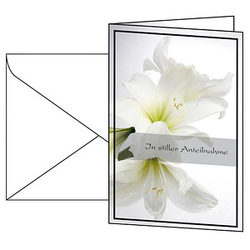 10 SIGEL Trauerkarten weiße Amaryllis DIN A6