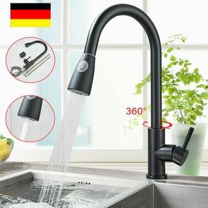 360° Küchenarmatur Ausziehbar Brause Einhebelmischer Spültisch küche Wasserhahn