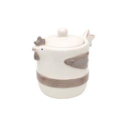 Dekohelden24 Zuckerdose Keramik Dose mit Deckel als Huhn., Keramik, (1-tlg)