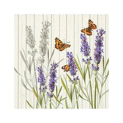 Paper+Design Papierserviette Lavendel & Schmetterlinge, (20 St), 33 cm x 33 cm