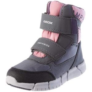Geox J FLEXYPER Girl B AB Snow Boot, Grey/Rose, 40 EU