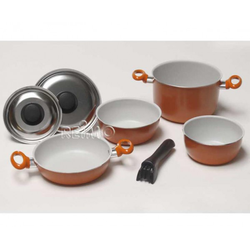 Camping-Topfset 7-teilig Alu Orange