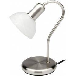 Brilliant Pearl 67347/75 Tischlampe LED E14 40W Edelstahl, Alabaster