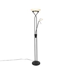 Stehlampe schwarz inkl. LED und Dimmer mit Leselampe - Empoli