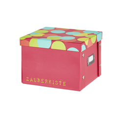 Basispreis* Pappbox  Zauberkiste ¦ rosa/pink ¦ Pappe, Metall ¦ Maße (cm): B: 20,5 H: 15,5 T: 21,5