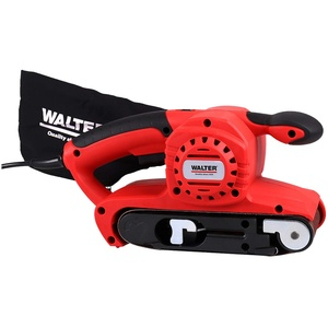 WALTER Bandschleifer 800 W, 1 Absaugabdapter, inkl. Staubsack, Schleifband 76 x 457 mm, Bandgeschwindigkeit: 0–380 m/min, werkzeugloser Schleifbandwechsel