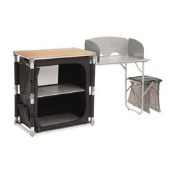 Outwell Campingtisch Padres Küchentisch mit Bambus Tischplatte & Side Unit