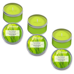 Pillashop Duftkerze Scented Candle in der Dose - 3 x Duft Lemongras Set
