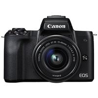 Canon EOS M50 schwarz+ EF-M 15-45 mm IS STM + 50 mm STM