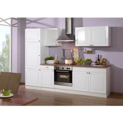 HELD Möbel Küchenzeile Rom 270 cm Hochglanz weiß - ohne E-Geräte