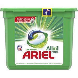 Ariel All-in-1 PODS Universal Strahlend Rein, 24 Waschladungen