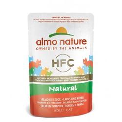 Almo Nature HFC Natural Zalm & Pompoen 55 gram  48 x 55 gram