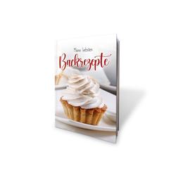 Kreative Feder Notizbuch, Meine liebsten Backrezepte, Rezeptbuch für eigene Backrezepte zum Selberschreiben, Hardcover DIN A4, DIY Backbuch, Küche, Backen