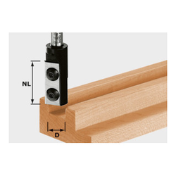 Festool Wendeplatten-Nutfräser HW Schaft 8 mm HW D16/30 S8