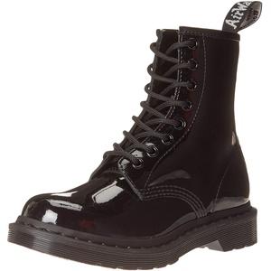 Dr. Martens Damen 1460 Mono Mode-Stiefel, Schwarze Lacklampe, 38 EU