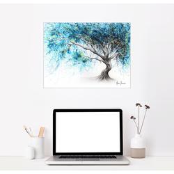 Posterlounge Wandbild, Kristallblauer Traumbaum 90 cm x 70 cm