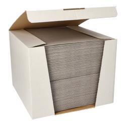 Papstar ROYAL Collection Servietten, 40 x 40 cm, grau, 3-lagige Premium-Servietten in Stoffoptik, 1 Spenderbox = 100 Tücher