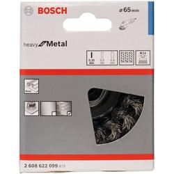 BOSCH Schleifaufsatz Topfbürste 65 mm, gezopfter Stahldraht, 1-St.