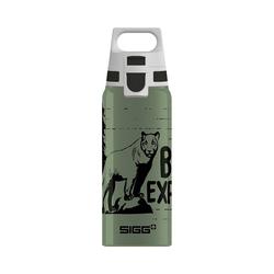 Sigg Trinkflasche Alu-Trinkflasche WMB ONE Brave Bear, 600 ml grün
