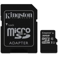 Kingston microSDHC 32GB Class 10 45MB/s UHS-I + SD-Adapter