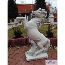 SR132 Gartenfigur Pferd Pferdestant XL Steinkunst Tierfigur Pferdefigur als massive Beton Steinguss Figur 100cm 100kg