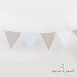 Pasito A Pasito–wimpelkette Blau Bp