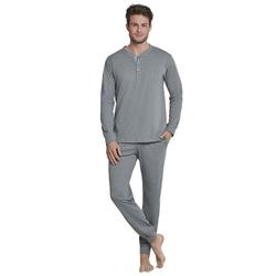 seidensticker Pyjama Bündchen-Pyjama (2 tlg) grau XXL = 56