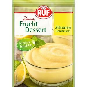 Ruf Frucht-Dessert Zitrone Erfrischungsspeise fruchtig-frisch, 3 x 44g