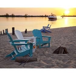 Polywood Gartenstuhl Deckchair Adirondack South Beach weiß