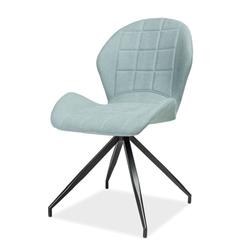 Krzesło tapicerowane Lasel miętowe podstawa statyw